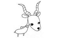 羚羊简笔画图片大全、画法