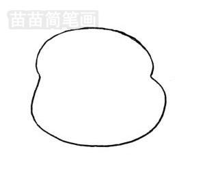 龙猫简笔画图片步骤一