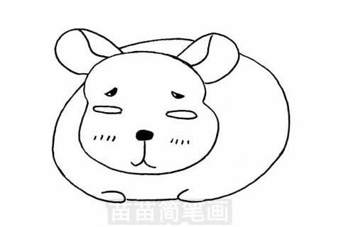 龙猫简笔画大图