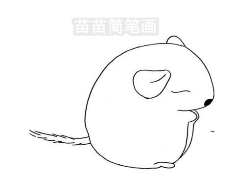 龙猫简笔画图片大全作品三