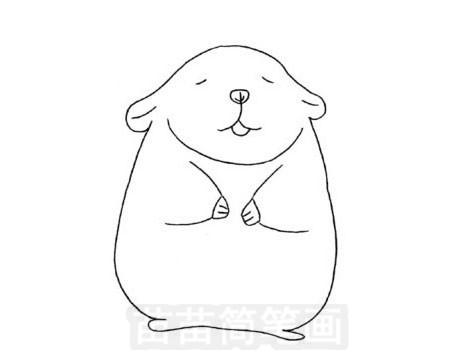 龙猫简笔画图片大全作品五