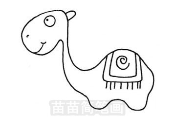骆驼简笔画图片步骤三
