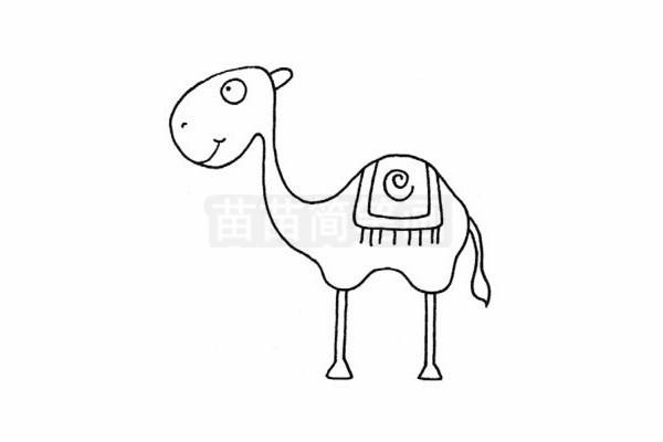 骆驼简笔画图片步骤四