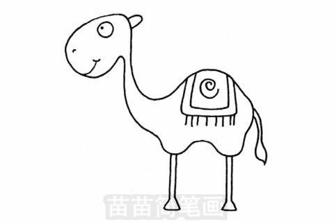 骆驼简笔画大图