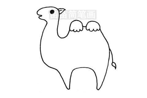 骆驼简笔画图片大全作品三