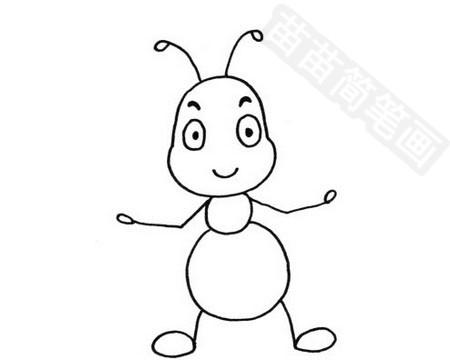 蚂蚁简笔画图片大全作品四
