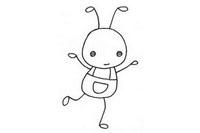 蚂蚁简笔画图片大全、教程