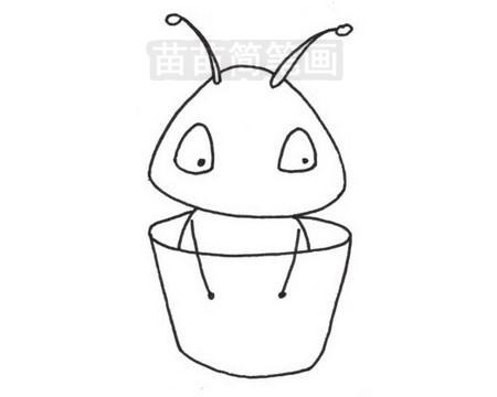 蚂蚁简笔画图片大全作品三