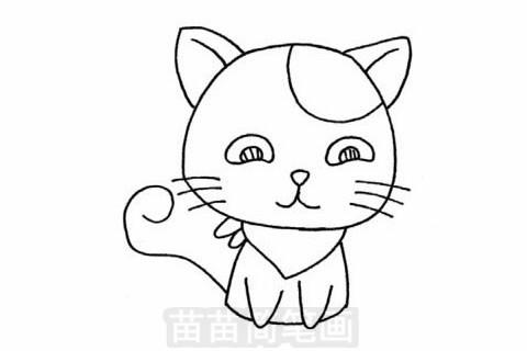 猫咪简笔画大图