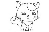 可爱猫咪简笔画图片大全、教程