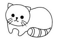 可爱小猫简笔画图片大全、教程