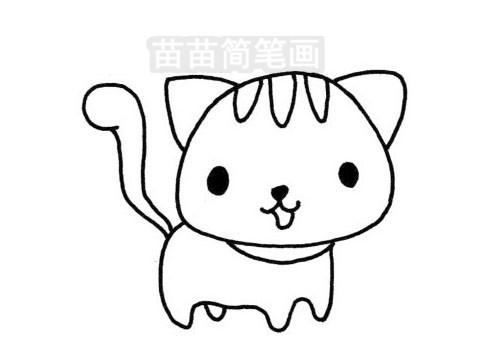 猫咪简笔画图片大全作品三