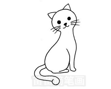 猫咪简笔画图片大全作品五
