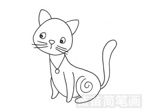 猫咪简笔画图片大全作品一