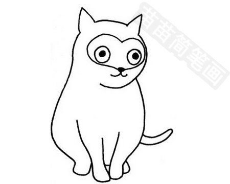 猫咪简笔画图片大全作品四