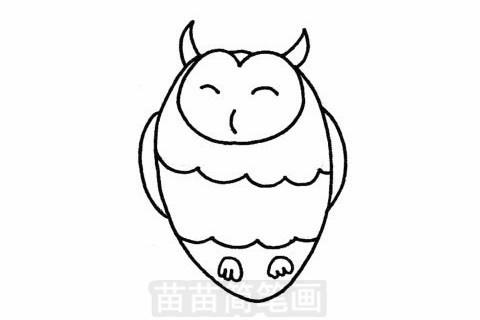 猫头鹰简笔画图片大全 画法