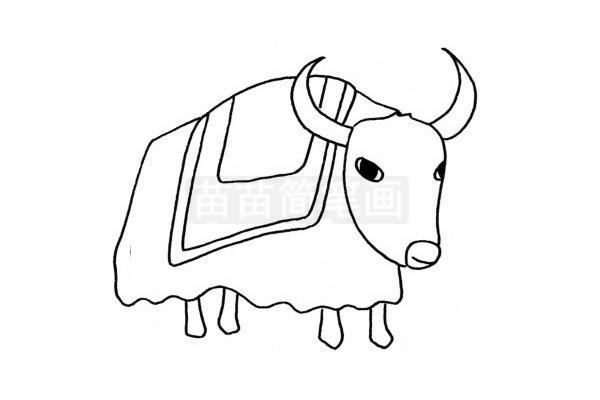 牦牛简笔画图片大全 教程
