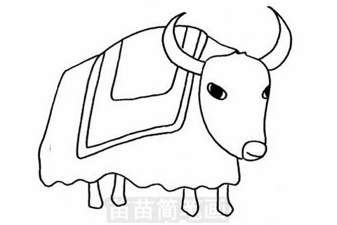 牦牛简笔画大图