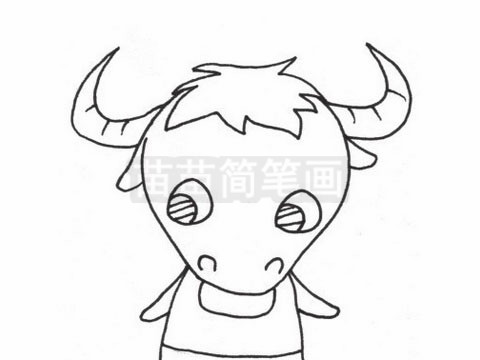 牦牛简笔画图片大全作品二