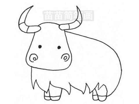 牦牛简笔画图片大全作品三