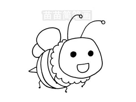 蜜蜂简笔画图片大全作品三