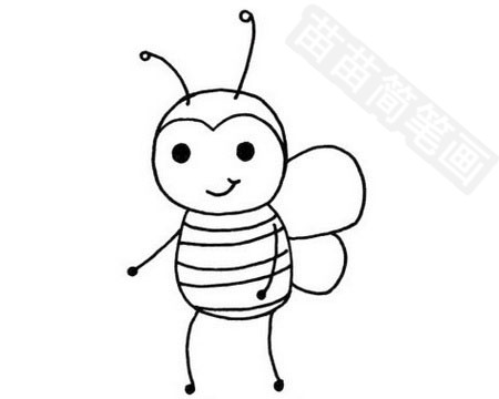 蜜蜂简笔画图片大全作品四