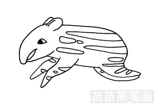 貘简笔画图片大全 教程