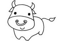 小牛简笔画图片大全、教程