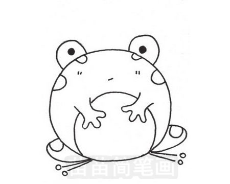 青蛙简笔画图片大全作品五