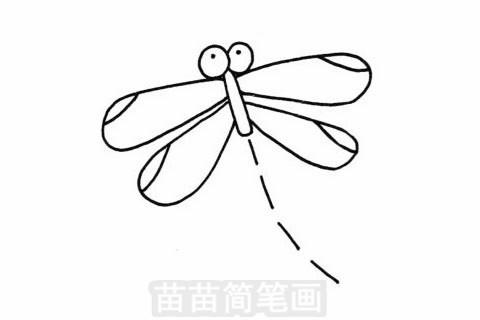 小蜻蜓简笔画图片大全 教程