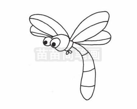 卡通蜻蜓简笔画图片大全 教程