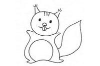 卡通松鼠简笔画图片大全、教程