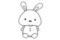 可爱小兔子简笔画图片大全、教程