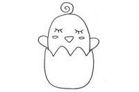 卡通小鸡简笔画图片大全、教程