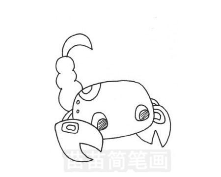 蝎子简笔画图片大全作品五