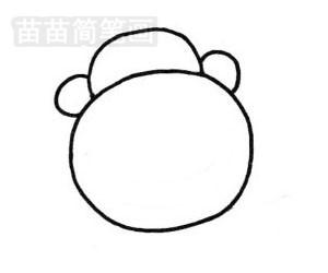 猩猩简笔画图片步骤二