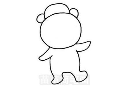 猩猩简笔画图片步骤三