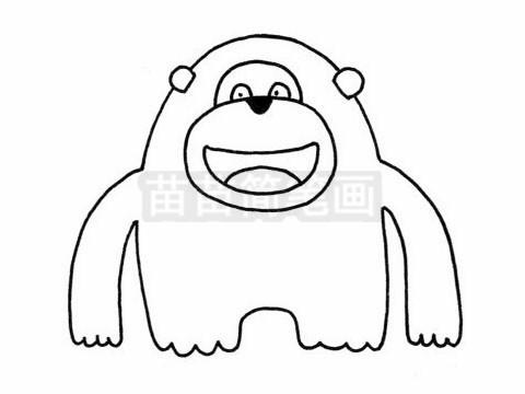 猩猩简笔画图片大全作品二