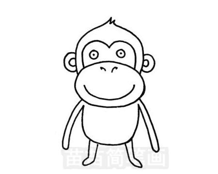 猩猩简笔画图片大全作品五