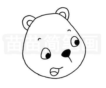 熊简笔画图片步骤二