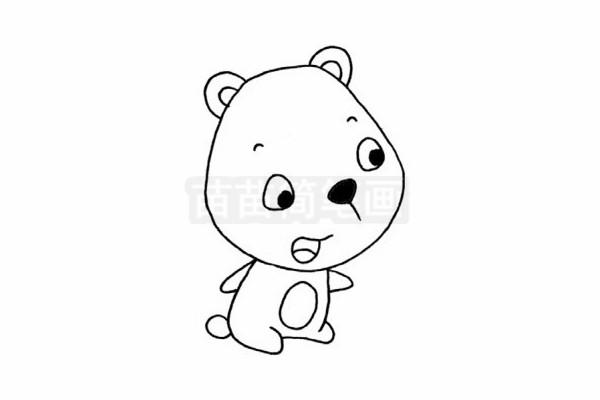 熊简笔画图片步骤四