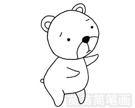 熊简笔画图片大全作品一
