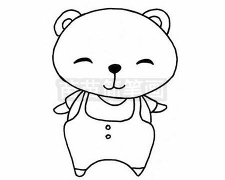 熊简笔画图片大全作品二