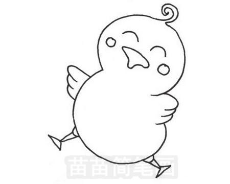 鸭子简笔画图片大全作品五