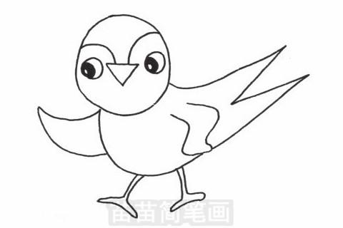 燕子简笔画大图