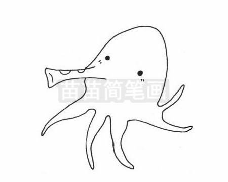 章鱼简笔画图片大全作品二