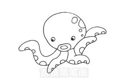 章鱼简笔画图片大全作品五