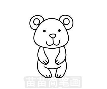 北极熊简笔画图片大全 教程