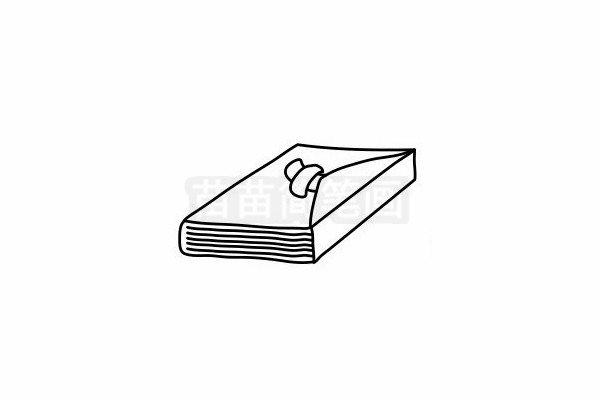 笔记本简笔画图片步骤六