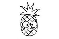 菠萝简笔画图片大全、画法